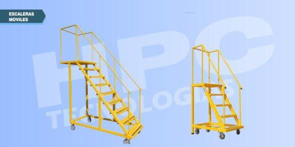 Escaleras móviles para almacen tipo avion