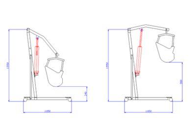 Dimensiones Grua para uso vehiculo personas con discapacidad