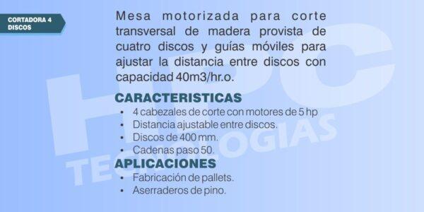 sierra trimmer 4 discos