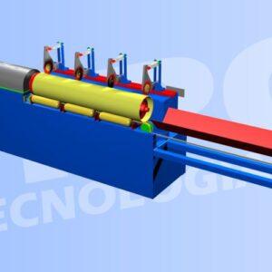 Maquina cortadora de tubos de carton o core