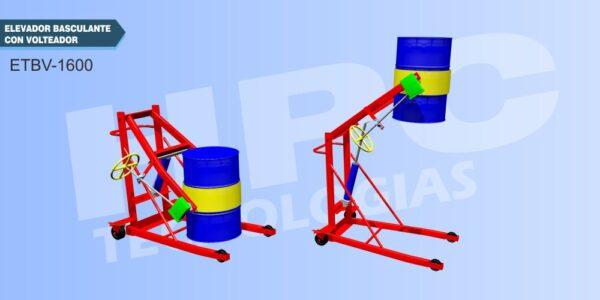 Elevador de tambor basculante volteador 360