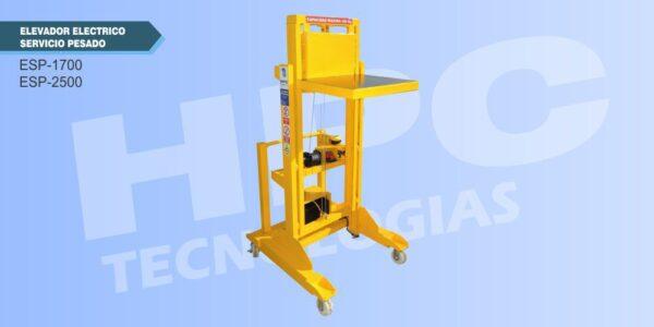 Elevador de carga servicio pesado