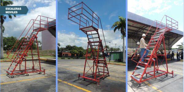 Escaleras tipo avion inspeccion de camiones cisternas