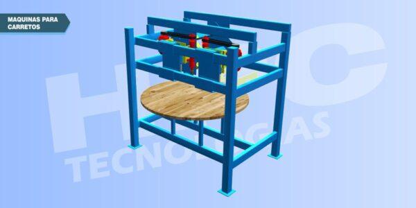 Maquinas para fabricar carretes o bobinas de madera