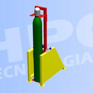Mauina volteador de cilindros medicinales para secado de prueba hidrostatica